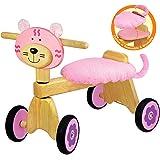 Vélo 4 roues Chaton rose en bois
