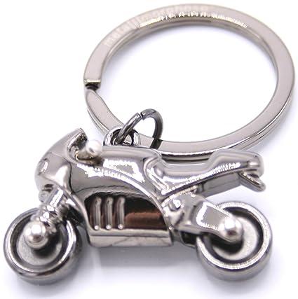 Llavero con motocicleta de color plata adrenalina. Precioso ...