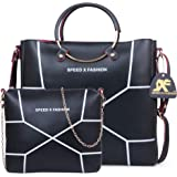 Speed X Fashion Women's Handbags And Shoulder Bag Combo (Black)