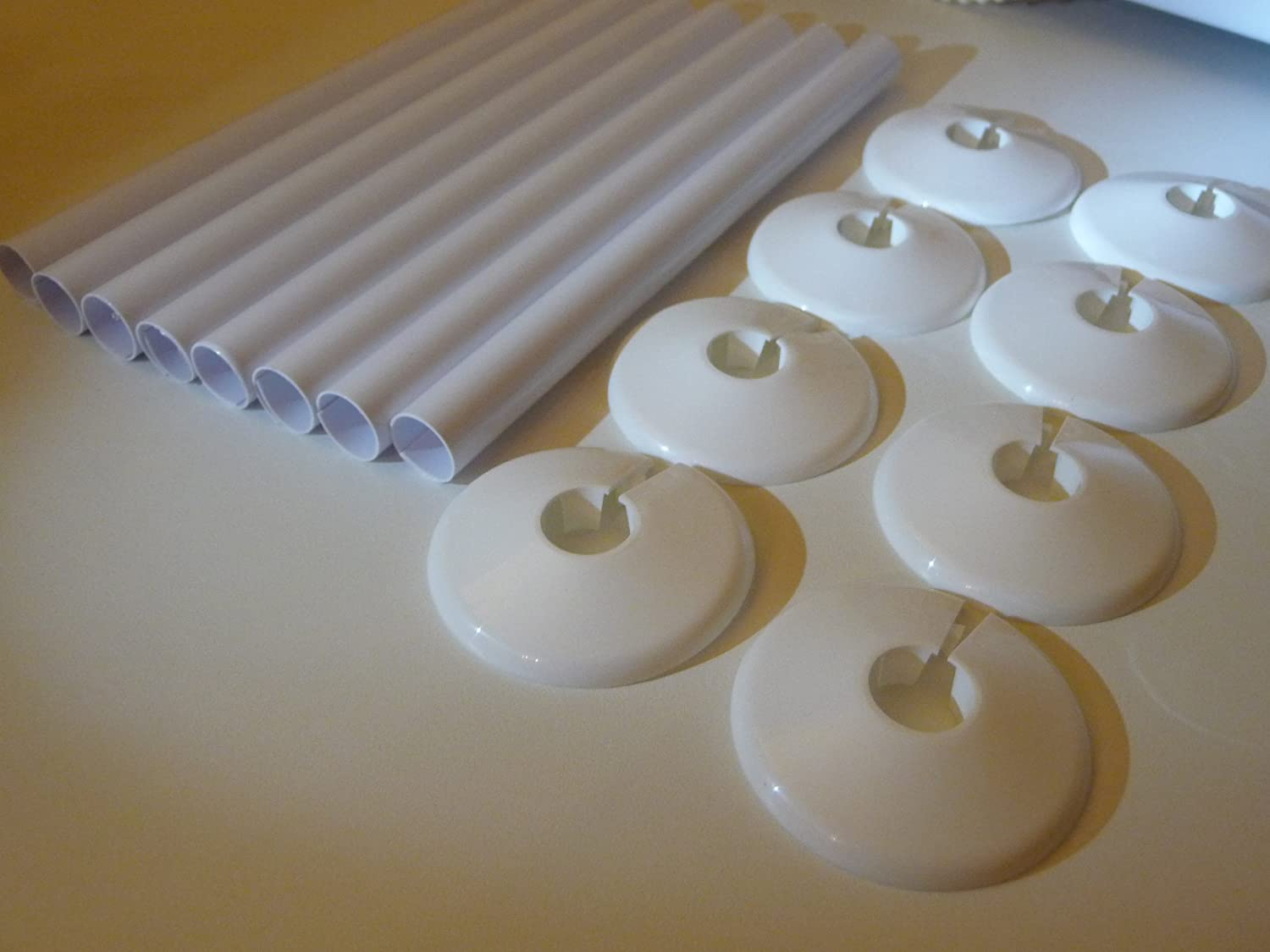 Free P /& P by Radsnaps 8 x 15mm Radsnaps and Collars WHITE