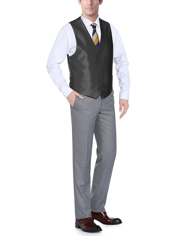 Many Colors 201 Chama Mens Suit Dress Vest Waistcoat Regular Fit Formal Vest