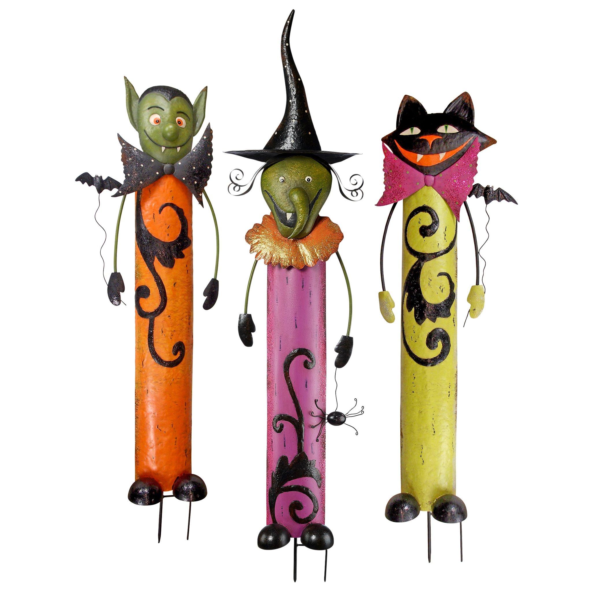 Design Toscano Halloween Metal Garden Stakes (Set of 3), Multicolor