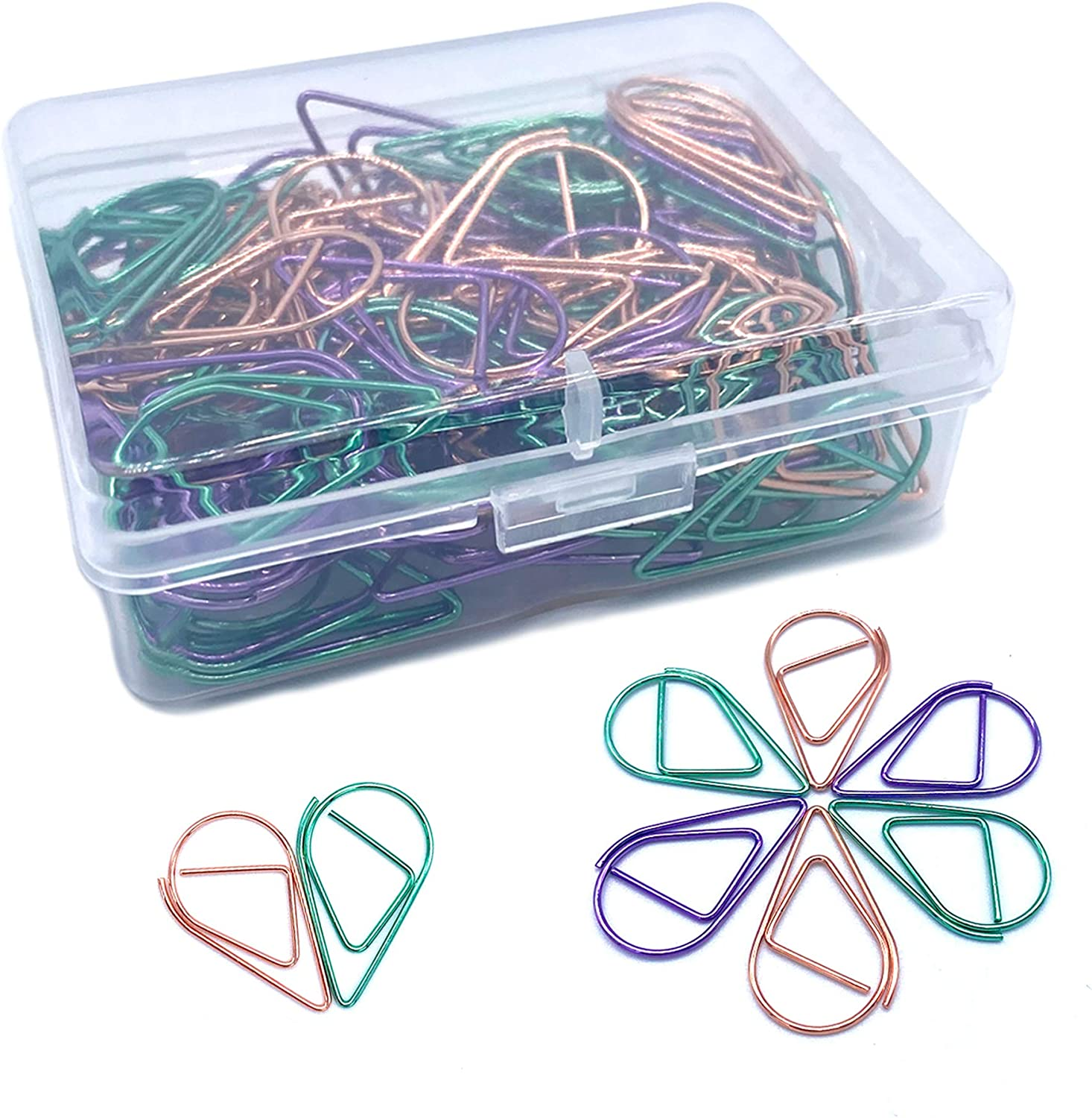 120 Pcs Multicolor Paper Clips, Smooth Steel Wire Paperclips for Office Supplier School Student(1 inch / 25mm)