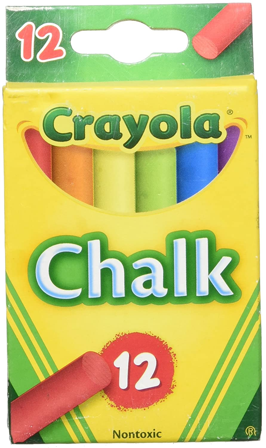 Multi Colour Childerns Chalk, 12 per pack 36 packs per case   B007XZW9WM