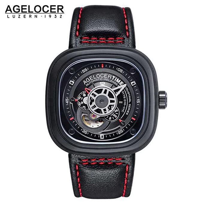 Amazon.com : Agelocer Brand square men watch top quality relojes hombre 2016 Business Dress Casual Luxury sports watch mens stainless steel : Everything ...