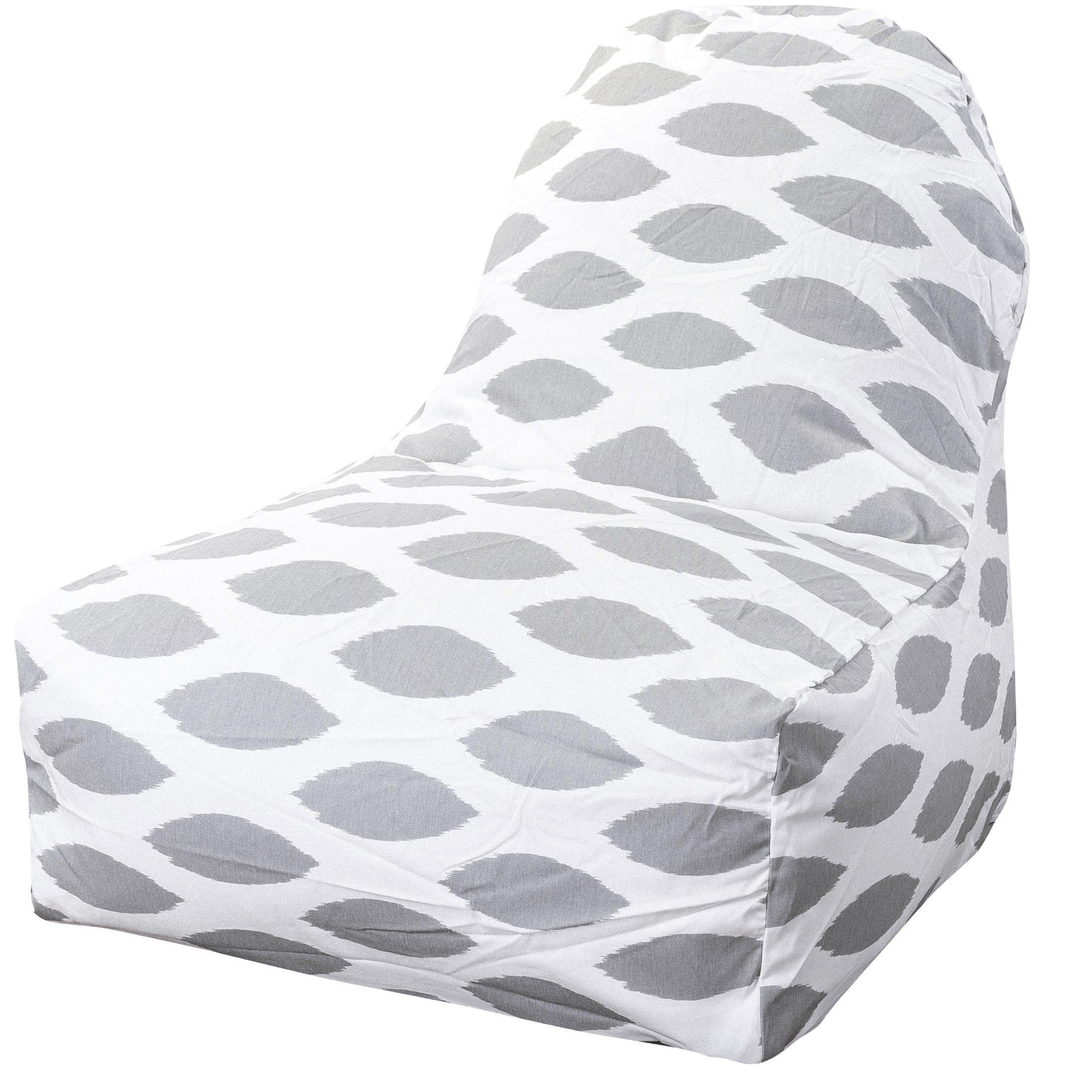 Majestic Home Goods Storm Gray Alli Kick-It Chair