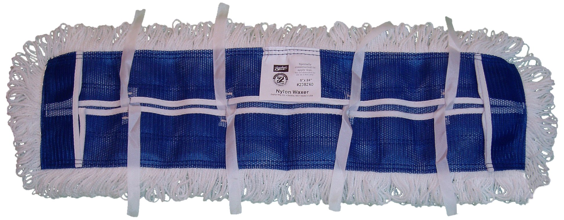 Zephyr 23818 Nylon Dura-Waxer Flat Mop Heads, 18'' Length x 5'' Width (Pack of 6) by Zephyr (Image #1)