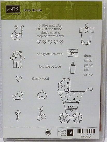 Amazon stampin up baby bundle stamps onsie bib stroller bear stampin up baby bundle stamps onsie bib stroller bear shower invitation filmwisefo