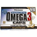 Weider, Omega 3 Caps, 1er Pack (1x 60 Kapseln)