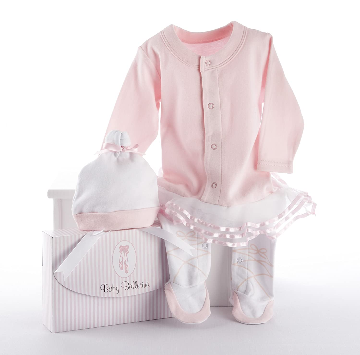 Baby Aspen Big Dreamzzz Baby Ballerina Layette Set with Gift Box, Pink, 0-6 Months BA16010PK