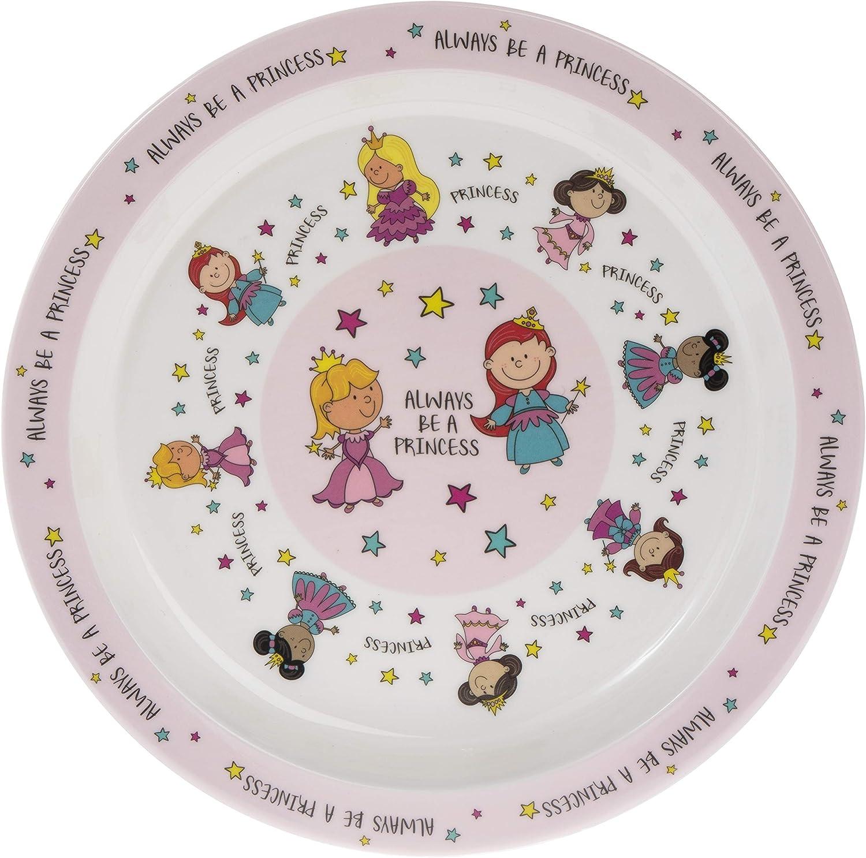 die Abendessen Teller 21/cm Always Be A Princess Pink Melamin Kunststoff Kinder
