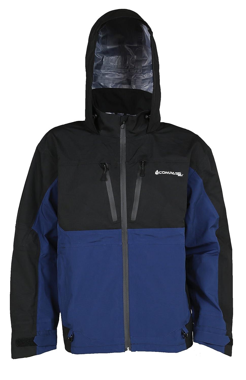 コンパス360 Stormガイド防水Competitionジャケット B071V94YWM MD|ブラック&ブルー ブラック&ブルー MD