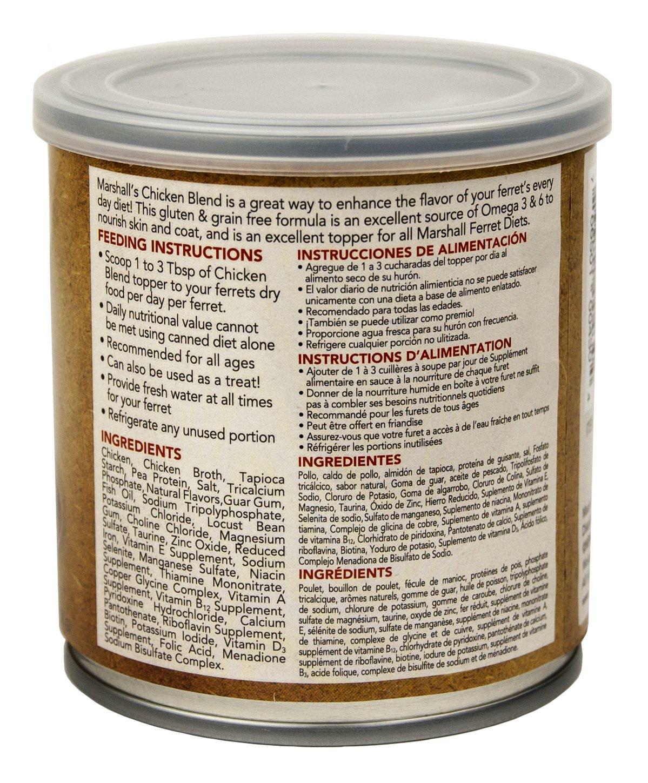 Amazon.com : Marshall PET PROD-Food FD-430 New Premium Ferret Diet Topper - Chicken Blend Pet-Food, 9 oz : Pet Supplies