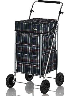 Shoppa - Carro de la compra de 4 ruedas para la compra Tartan B