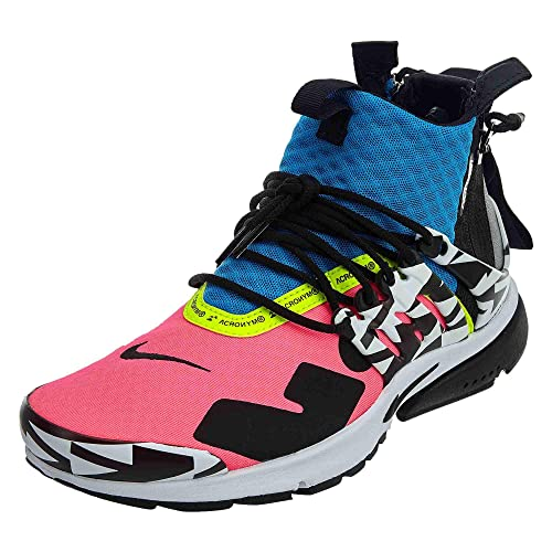 reputable site 0cdd1 1ef2e Nike Mens Air Presto Mid  Acronym Racer PinkBlk-Photo Blue AH7832-