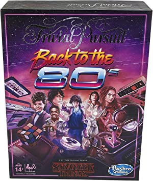 Hasbro Gaming-Trivial Pursuit Netflix s Stranger Things Back to The 80s Edition: Juego de Mesa para Adultos y Adolescentes (Inglés), Color no, No se Aplica (E5641): Amazon.es: Juguetes y juegos