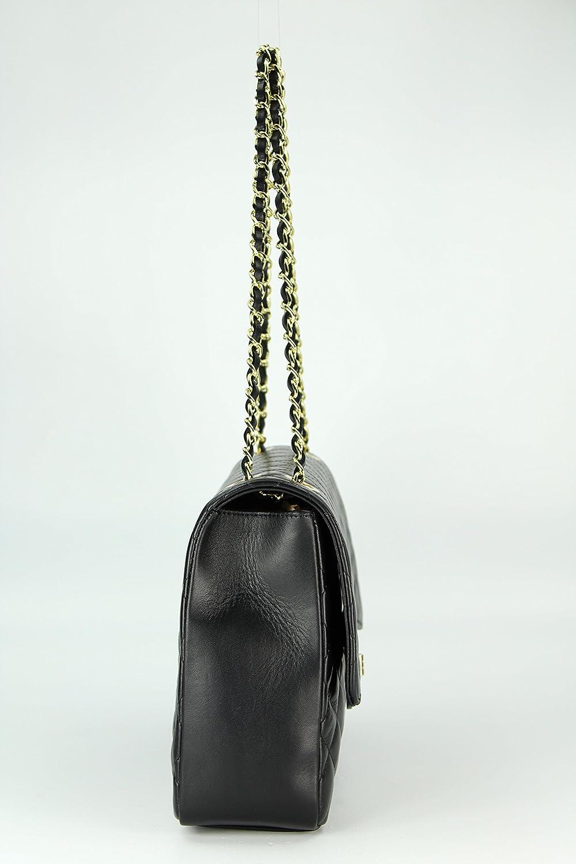 """BELLI Nappa Leder Abendtasche Handtasche Damentasche Ledertasche /""""Paris/"""" weiß"""
