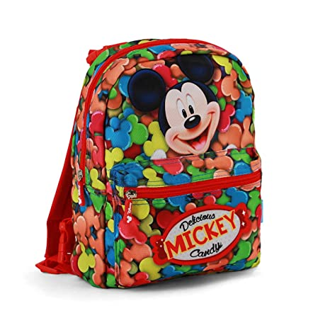 Karactermania Mickey Mouse Mochila infantil reversible, 31 cm, Rojo