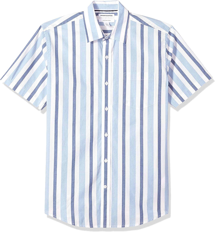 Mens Vintage Shirts – Retro Shirts Amazon Essentials Mens Regular-fit Short-Sleeve Poplin Shirt $20.66 AT vintagedancer.com