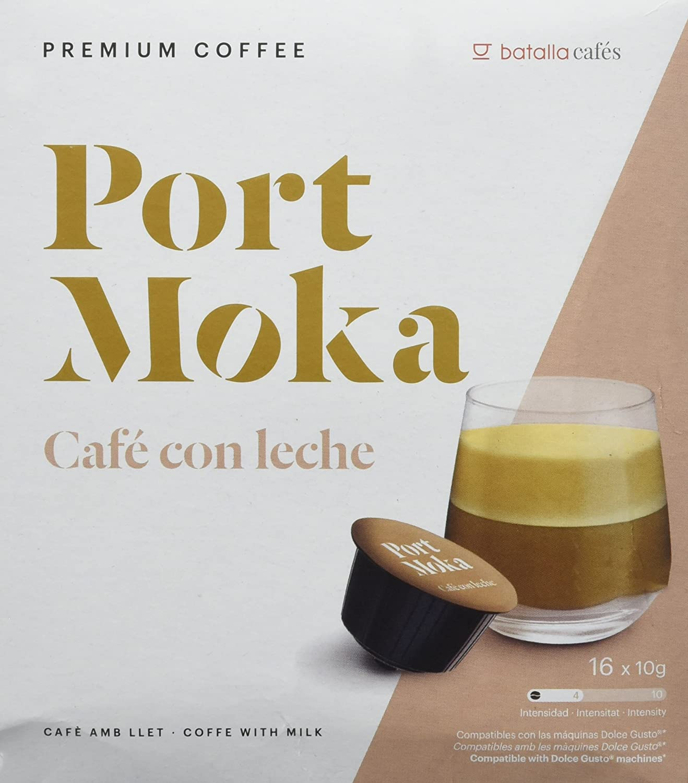 Port Moka Cápsulas de Café con Leche Compatibles Sistema Dolce ...