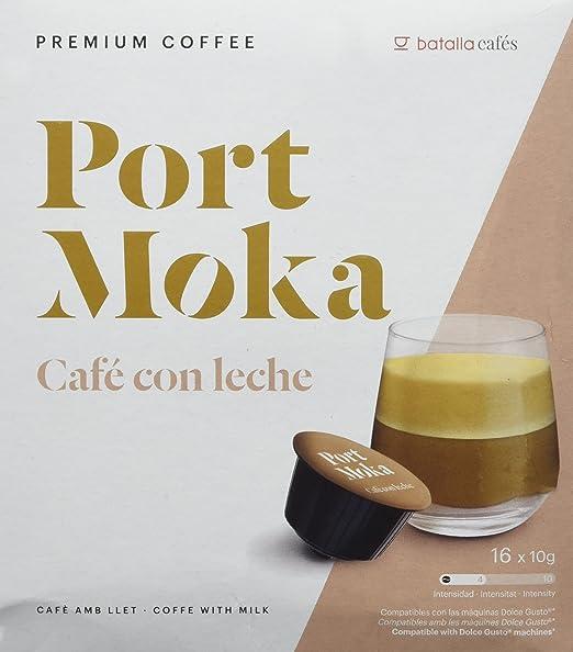 Port Moka Cápsulas de Café con Leche Compatibles Sistema Dolce Gusto - 4 Paquete de 16