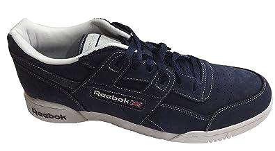 Reebok Classic Workout Plus FM R12 Int Mens Trainers Navy Blue Men s UK 12  EU 47 09d341466
