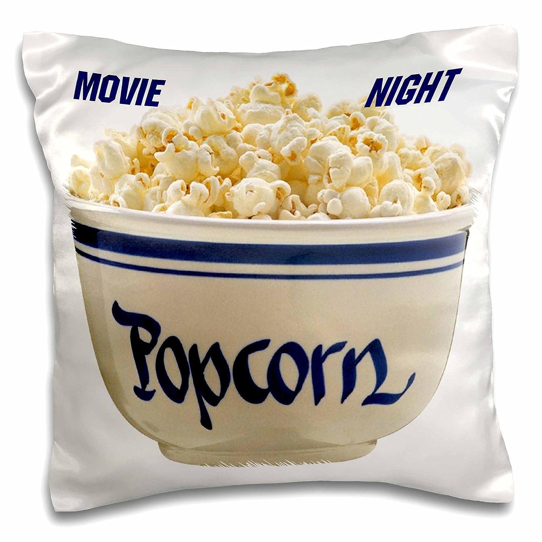 フローレン食品および飲料 – ポップコーンムービーNite – 枕ケース 16x16 inch Pillow Case pc_33172_1 16x16 inch Pillow Case  B01651PMXC