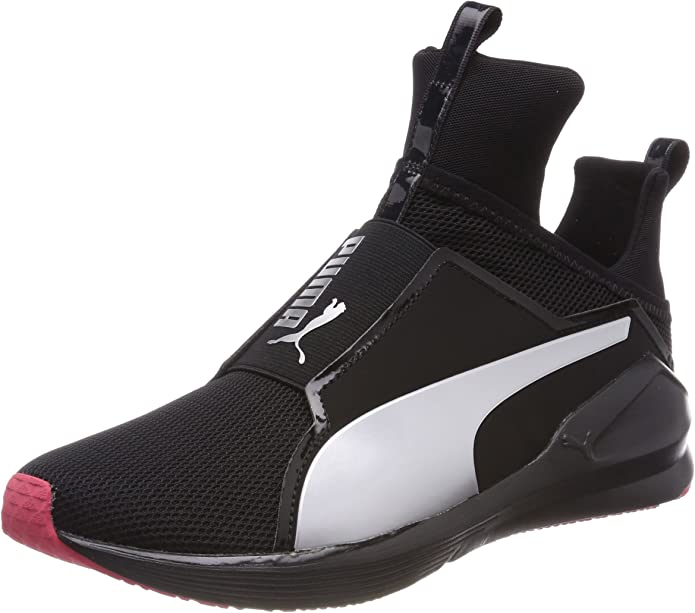 Puma Fierce Core Sneakers Trainingsschuhe Damen Schwarz mit Weißen Streifen