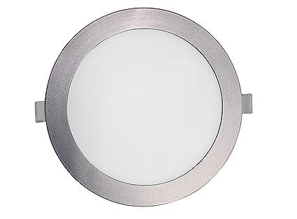 SevenOn LED 64287 Pack de 2 downlight LED SMD extraplano redondo, aluminio mate, 18W