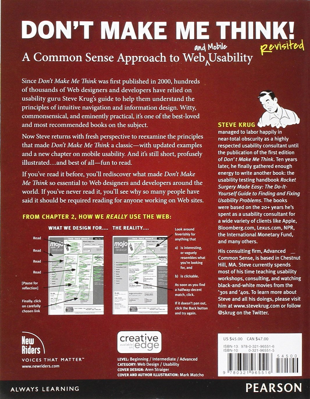 Don't Make Me Think, Revisited: A Common Sense Approach to Web Usability (3rd Edition) (Voices That Matter) by New Riders