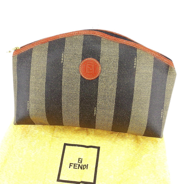 [フェンディ] FENDI クラッチバッグ ポーチ 化粧ポーチ レディース メンズ 可 ペカン 中古 訳あり 良品 L1797 B0765M2TDC