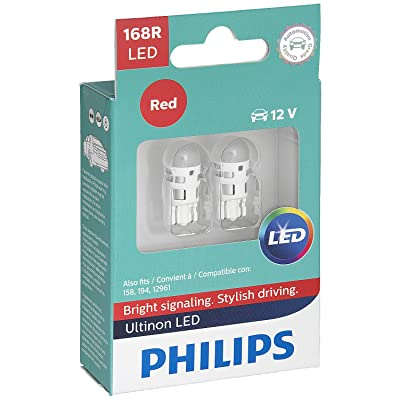 Philips 168 Ultinon LED Bulb (Red), 2 Pack: Automotive