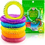 The Body Source® - Mosquito Repellent Bracelets (10 Pack) - DEET FREE - All Natural Anti Insect Midge and Bug Repellent Bands – Waterproof Citronella Wristbands for Adults & Children