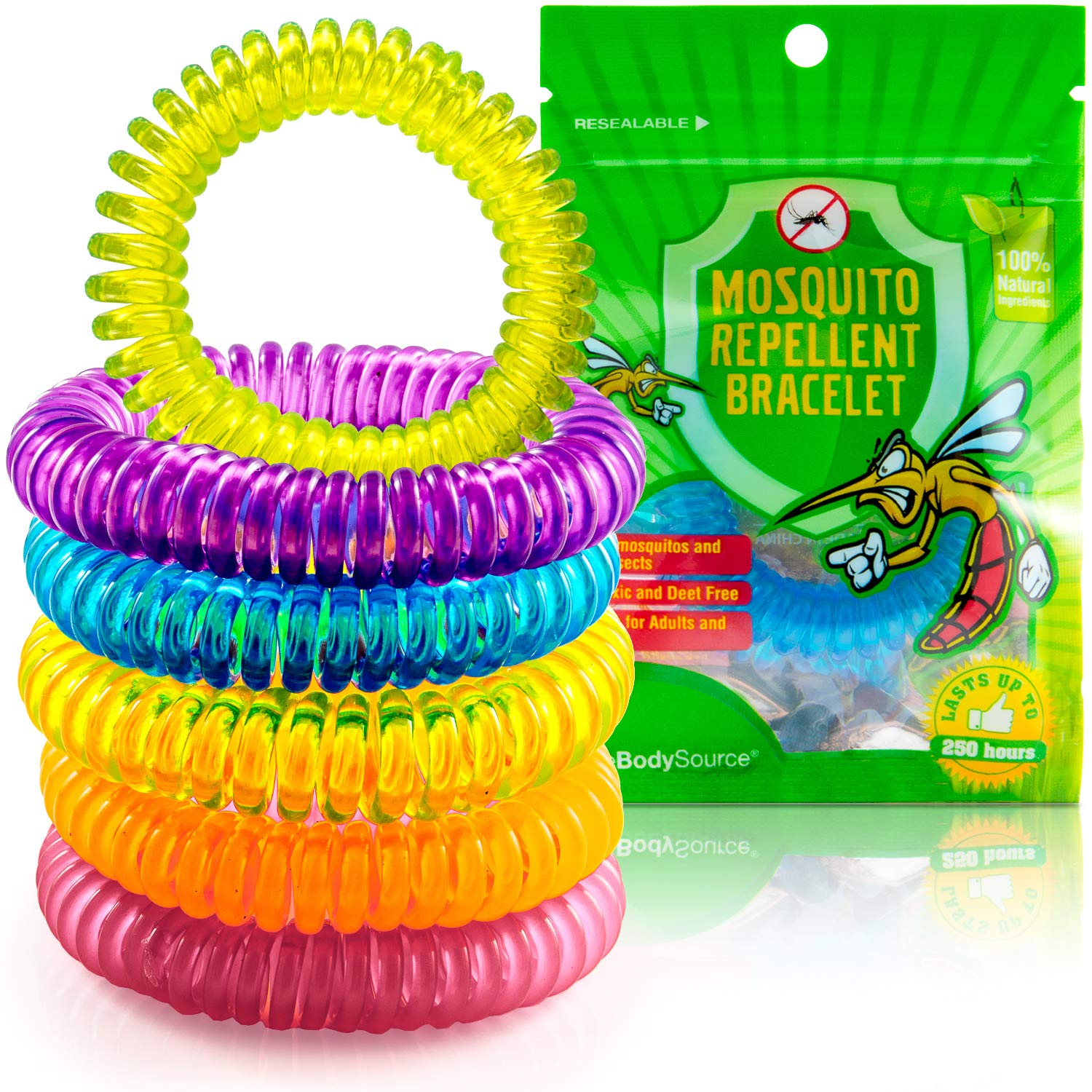 The Body Source Mosquito Repellent Bracelets 10 Pack Deet Repeller Insect And Bug Electronic Kit Free All Natural Anti Midge Bands Waterproof Citronella