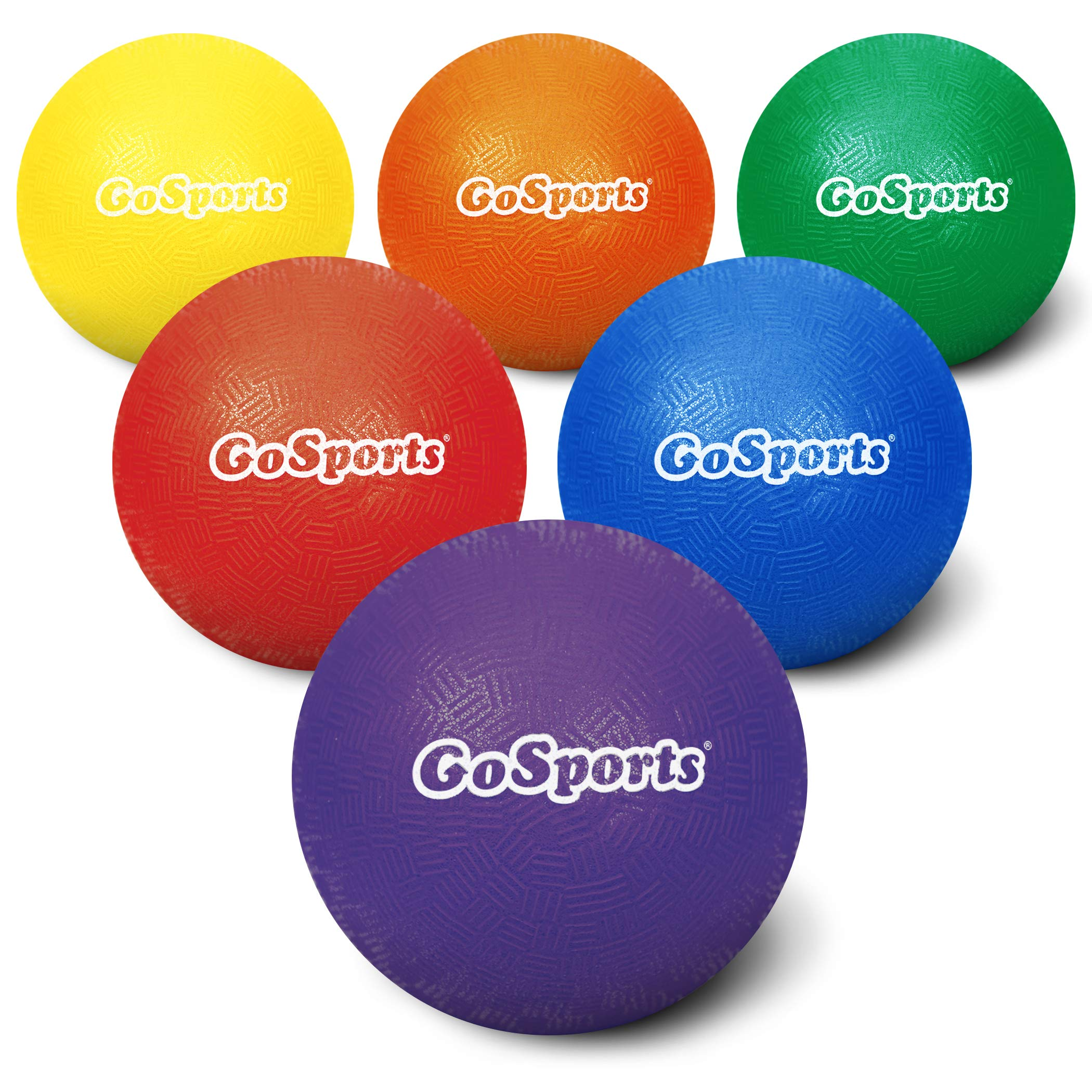 GoSports 5'' Inflatable Dodgeball 6 Pack - No Sting Balls - Includes Ball Pump & Mesh Bag by GoSports
