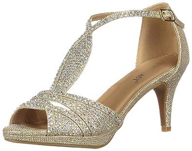 da77ecdfb7890d OLIVIA K Women s Sexy Strappy Glitter Rhinestone Open Toe Heel Sandals -  Adjustable Buckle