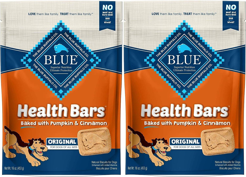 Blue Buffalo Health Bars for Dogs, Pumpkin and Cinnamon, 32-Ounce Bag