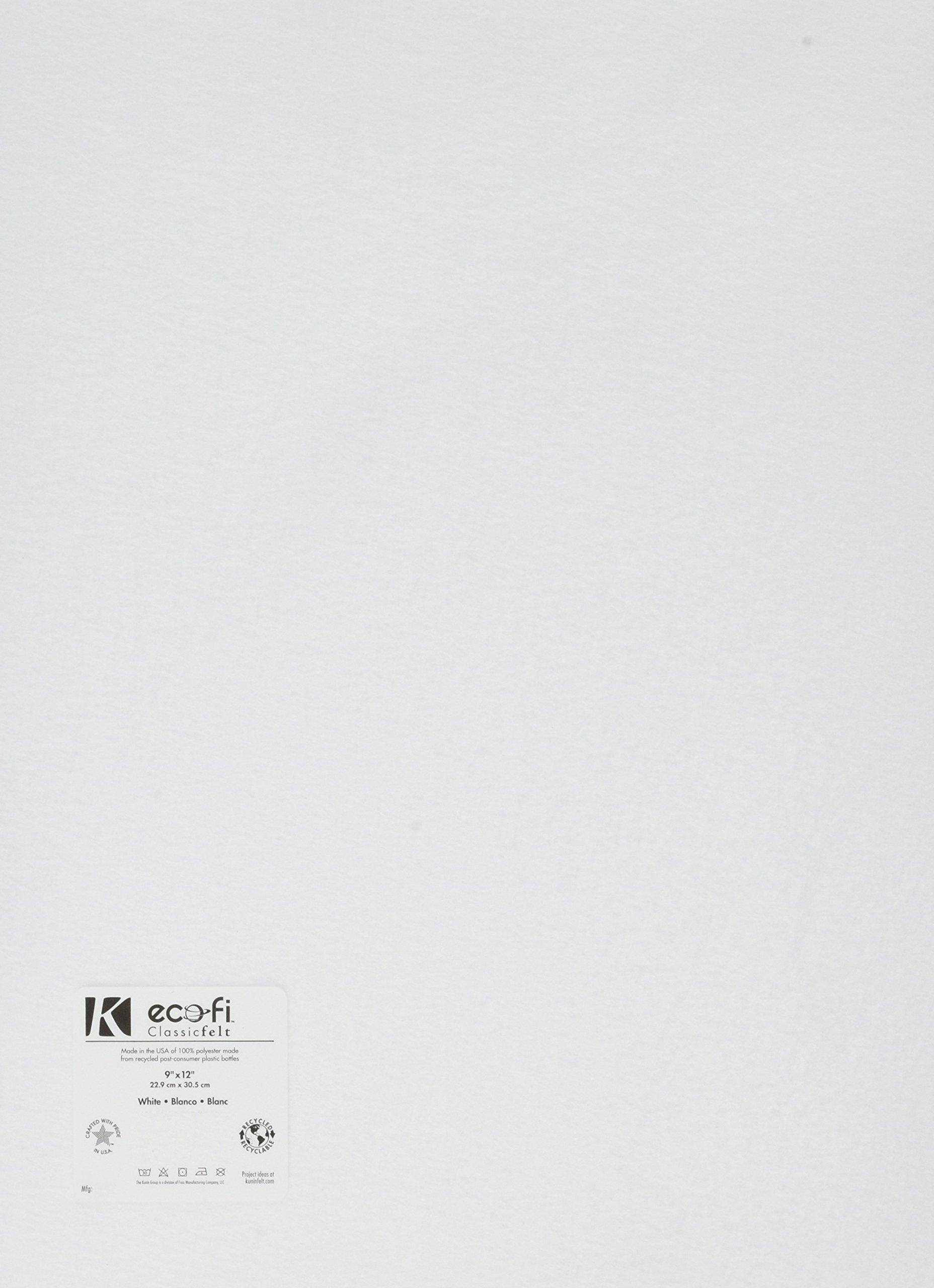 Rainbow Classic Felt 9''X12''-White  24 per pack