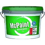 McPaint Wandfarbe Qualitätsweiß für den Innenbereich, matt 1 Liter, weiß - weitere Größen verfügbar