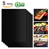 Amazon Price History for:SHINE HAI Grill Mat Set of 5, 100% Non-Stick BBQ Grill & Baking Mats, FDA-Approved, PFOA Free, Reusable and Easy to Clean, BBQ Accessories for Gas, Charcoal, Electric Grill and More- 15.75 x 13 Inch