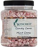 Candy Cane Mint Gems - 1.5 Lb Tub