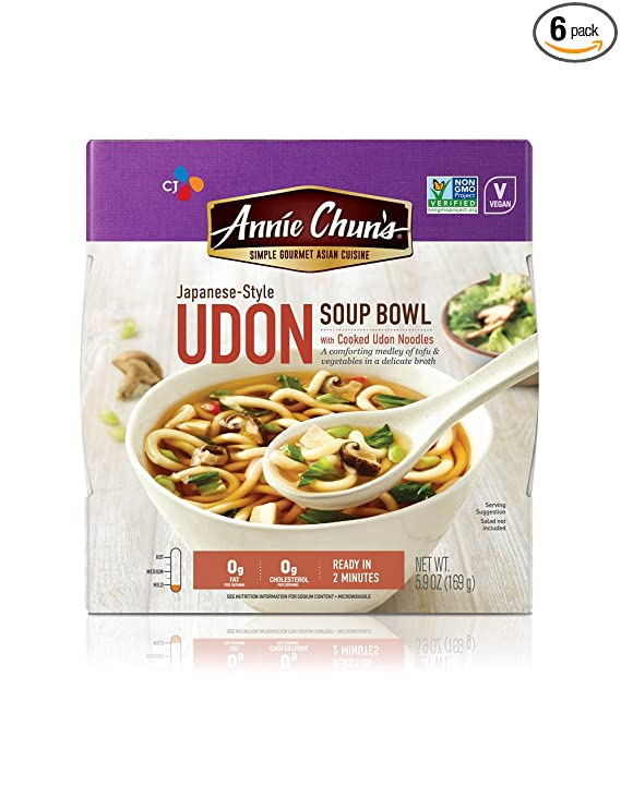 Amazon.com : Annie Chun's Udon Soup Noodle Bowl |Non-GMO, Vegan,  Shelf-Stable, 5.9-oz (Pack of 6), Japanese-Style Savory Ready Meal :  Packaged Asian Dishes : Grocery & Gourmet Food