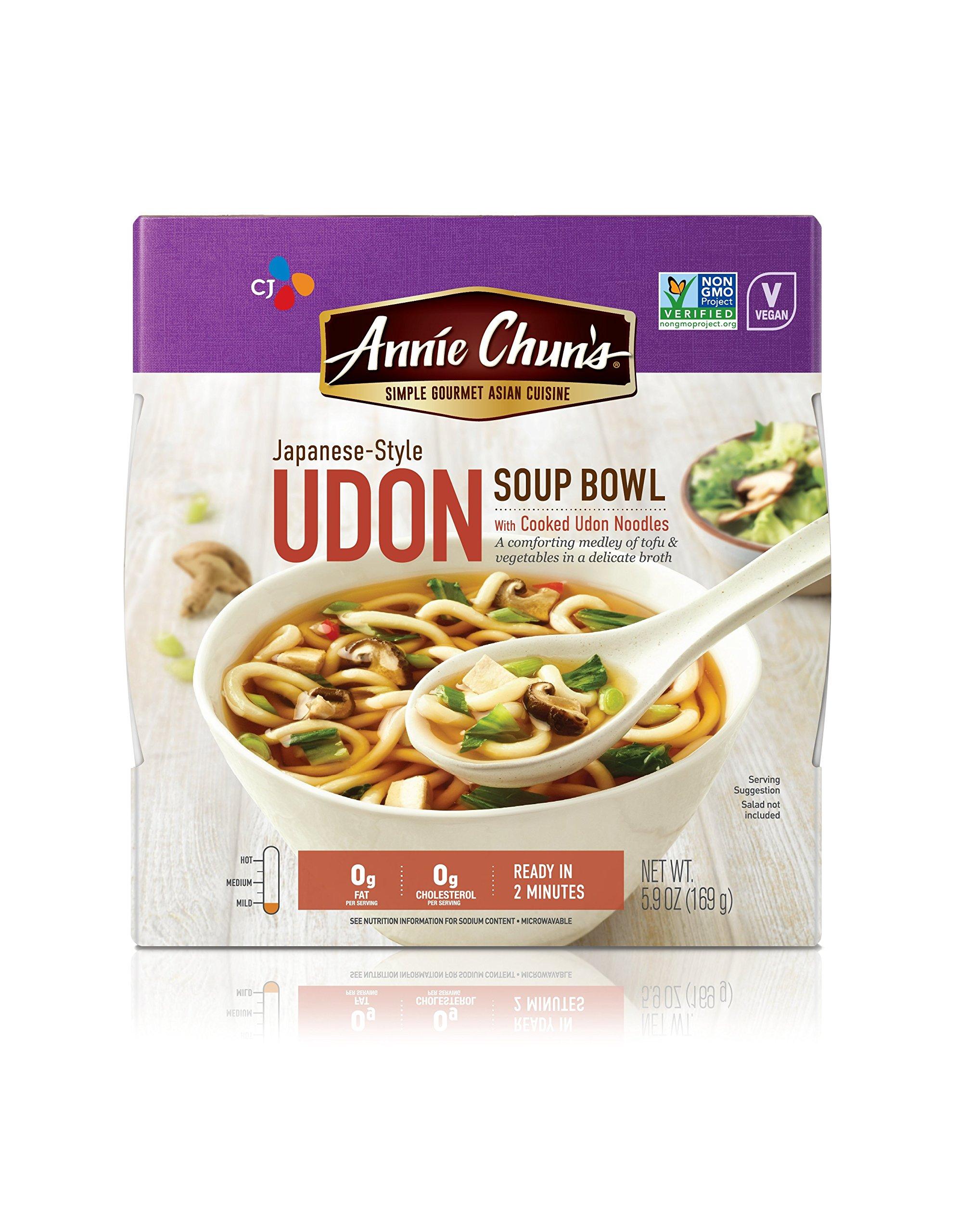 Annie Chun's Udon Soup Noodle Bowl, Non-GMO, Vegan, Japanese-Style, 5.9-oz (Pack of 6)