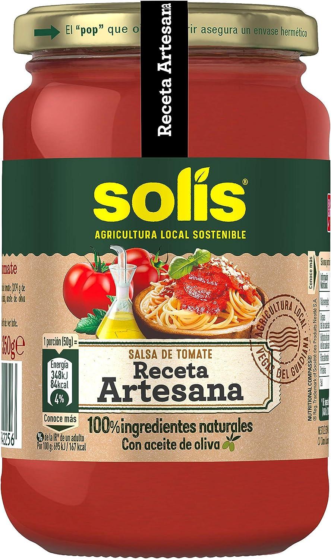 Solis Salsa de tomate Receta Artesana Frasco Cristal - Tomate Sin Gluten - 350g