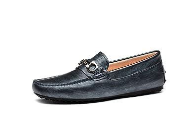 Hommes Mocassins Chaussures de conduite Gris E62BlVKV