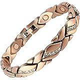 Ladies Magnetic Bracelet with Diamante Alloy Plated Beautiful Bracelet Arthritis Aid …