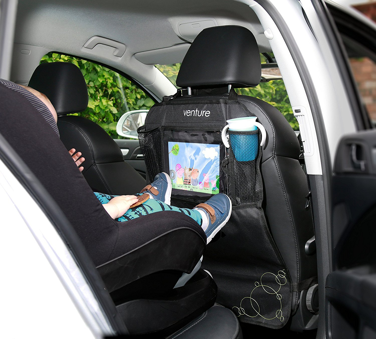 ActiVue Touch | 2 x Heavy Duty Kick Mats With iPad | Tablet Holder | Car Seat Protector | Car Seat Cover Venture ActiVue | Touch