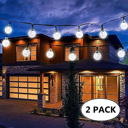 Xmas 30 LED Crystal Ball Solar Power Fairy String Lights Outdoor Party Decor