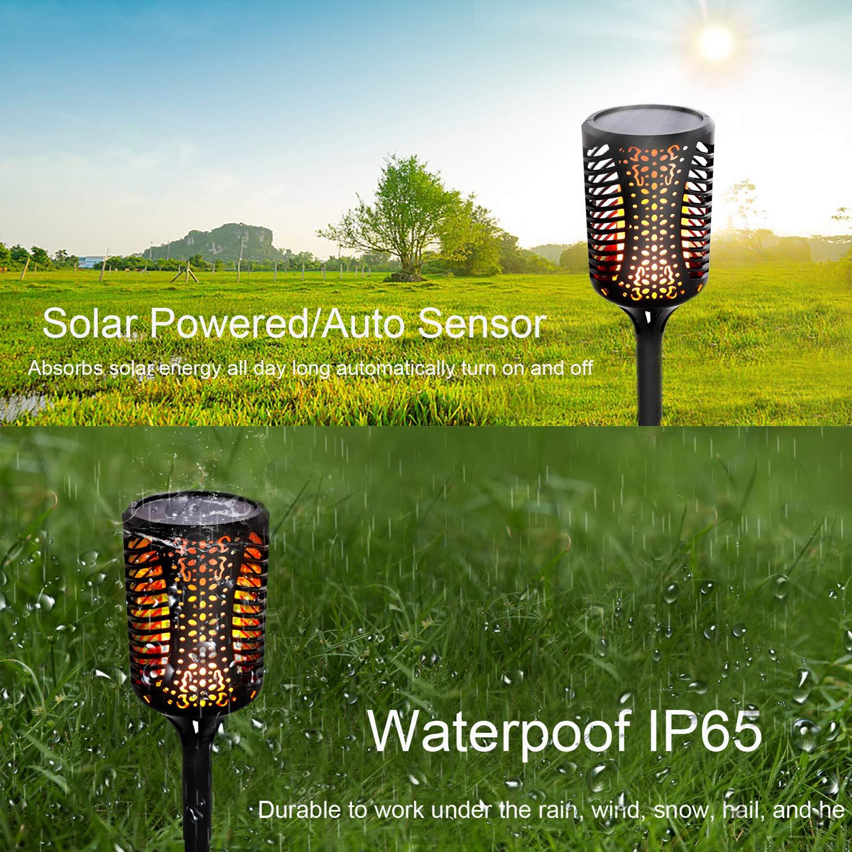 Amazon.com: COCOMOX - Luces solares para exteriores, luces ...