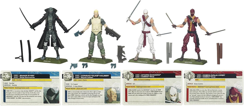 GI Joe Cobra Commander Leader Action Figure with Stand Weapons Gun Sword